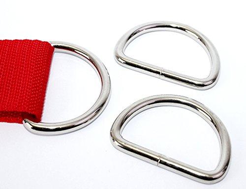 D-Ringe 10 Stück 30x22x3,8mm Halbrundringe Stahl vernickelt,geschweißt