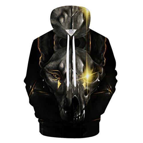 One-Eyed Tier Männer 3D-Hoodie Tier Hoody Lässiger Trainingsanzug Groot Sweatshirt Streatwear Mantel Pullover LMS 537 XXL