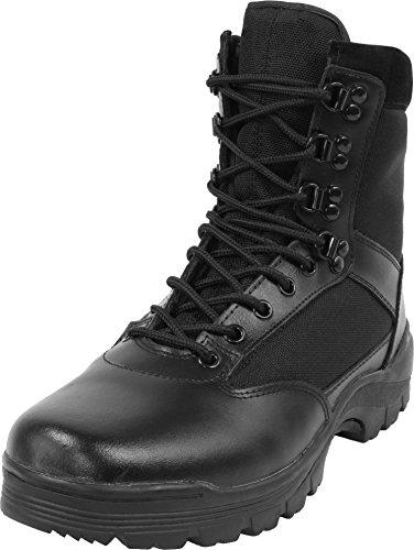 normani Herren Stiefel Leder Swat Boots mit Thinsulate Fütterung Farbe Black Größe 42 EU Army Herren-leder