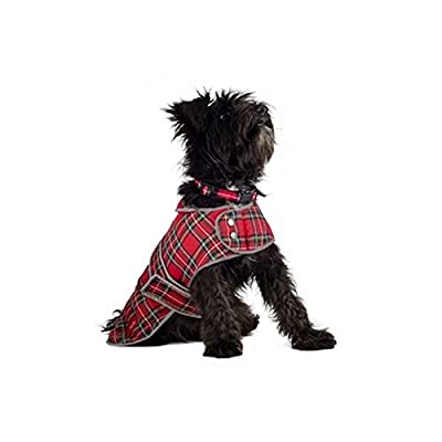 Muddy Paws Highland Tartan Coat Red by Ancol
