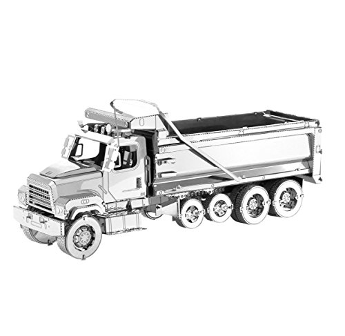 Metal Earth - Fascinations, FREIGHTLINER 114SD DUMP TRUCK 3d Metall Puzzle, Konstruktionsspielzeug, Lasergeschnittenes Modell (Freightliner-tools)