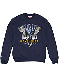 "Memphis Grizzlies Mitchell & Ness NBA ""Draft Choice"" Crew SweatShirt Chemise - Blue"
