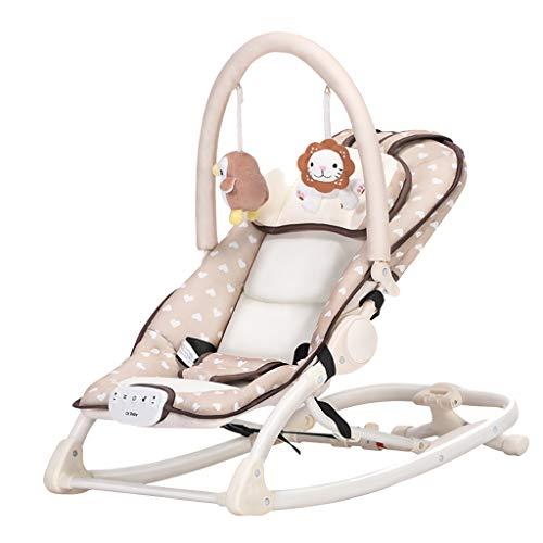 Jack YLQX Baby Swing Cradle, Silla de Columpio de balancín portátil y automática con música Azul...