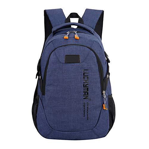 Mode Kausal wasserdichte Rucksack leinwand Reisetasche Rucksäcke Unisex Laptop Taschen Designer Student Tasche Mochila Masculina Blau 50 * 30 * 15 cm -