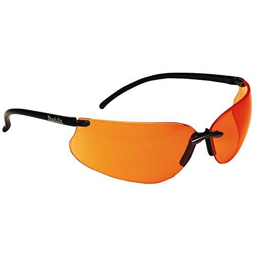 Makita P-66363  Design Sonnenbrille / Arbeitsschutzbrille, orange inklusiv Brillen - Etui und Putztuch