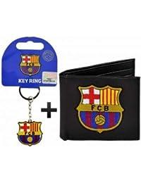 FC Barcelona (sintética) cartera de piel y llavero Set de regalo