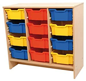 Meuble de rangement en bois pour materiel en vrac for Meuble de rangement jouet