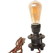 Lámpara de escritorio industrial de la vendimia del tubo de tabla retro del desván hierro rústico