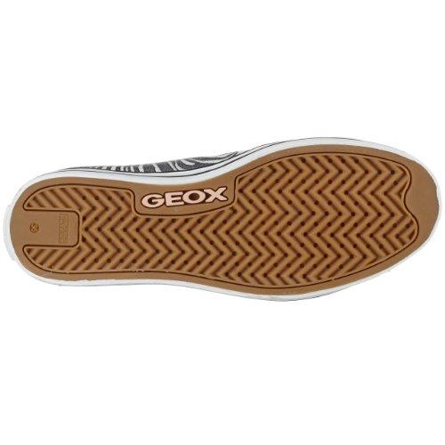 Geox J Ciak Girl J0104S, Mädchen Sneaker Weiss (Wht/Silverc0007)