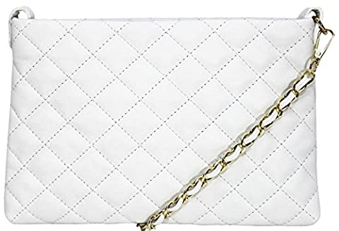 Handbag Bliss Italian Leather Quilted Designer Inspired Classic Handbag &