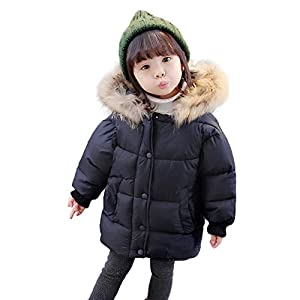 Moonuy Kids Girls Boys Winter Warm Coat Kids Baby Winter Thick Warm Hooded Outerwear Solid Coat Padded Children Outerwear Clothes Jacket Children Cotton Outdoor Clothing