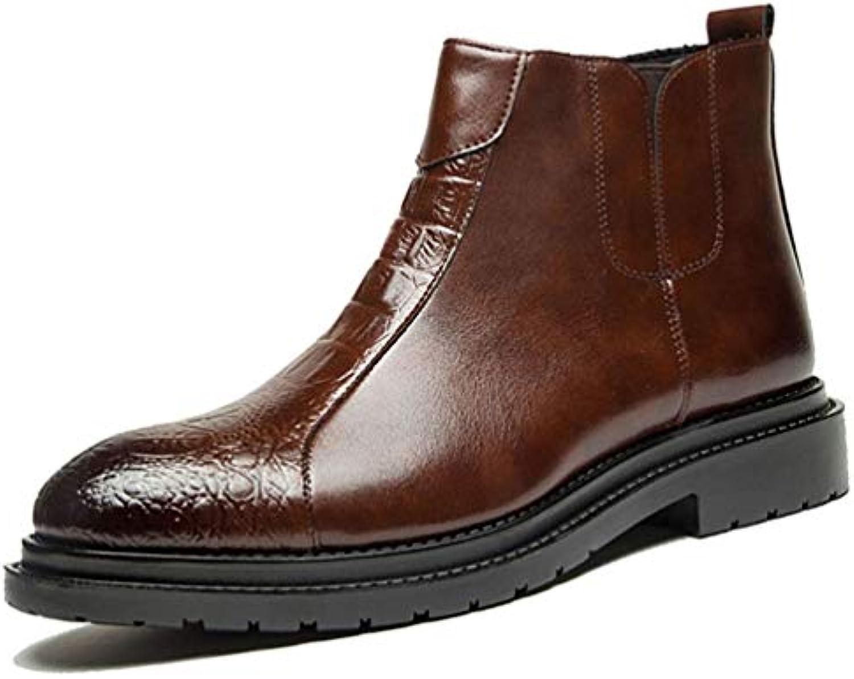 Mens Chelsea stivali Plain Toe Stivaletti Zipper Leisure Short stivali Business Formal Dress scarpe for Men | Qualità In Primo Luogo  | Uomini/Donne Scarpa