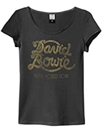 Amplified David Bowie - 1978 World Tour - Ladies Charcoal T Shirt
