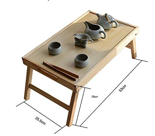 Table pliante en bois Kang Petite tablette carrée Table basse table d'après-midi ( taille : Les petites )