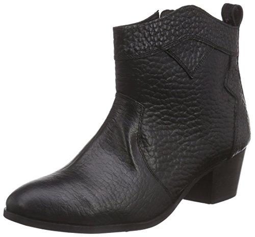 Black Lily Muse Damen Biker Boots Schwarz (Black)