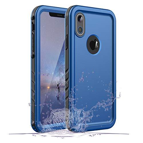 Gelink Custodia Impermeabile per iPhone XR, IP68 Certificato Waterproof Cover Slim Antipolvere AntiGraffio Subacquea Caso Full Protezione Case Protettiva per Apple iPhone XR (Blu)