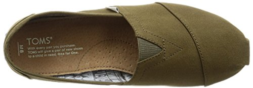 Toms Mens Alpargata Canvas Ankle-High Flat Shoe Green