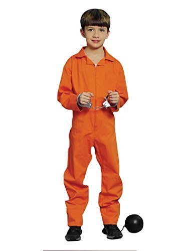�r Kinder, Orange (Hannibal/Kinderschürzen Jailbird Halloween Fasching (Halloween-kostüm Jailbird)