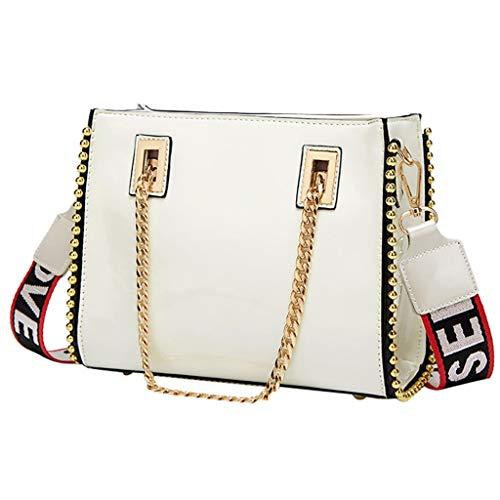 Mitlfuny handbemalte Ledertasche, Schultertasche, Geschenk, Handgefertigte Tasche,Mode frauen lackleder pailletten handtasche umhängetasche handytasche -