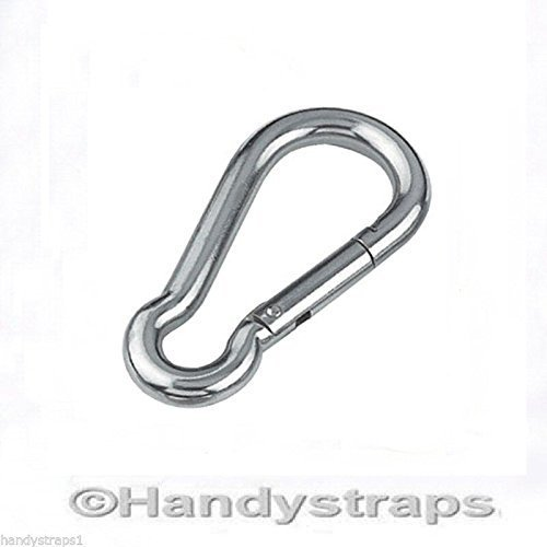 7mm x 70mm Carabiner Carabina Karabiner Snap Hook Stainless Steel Marine Test