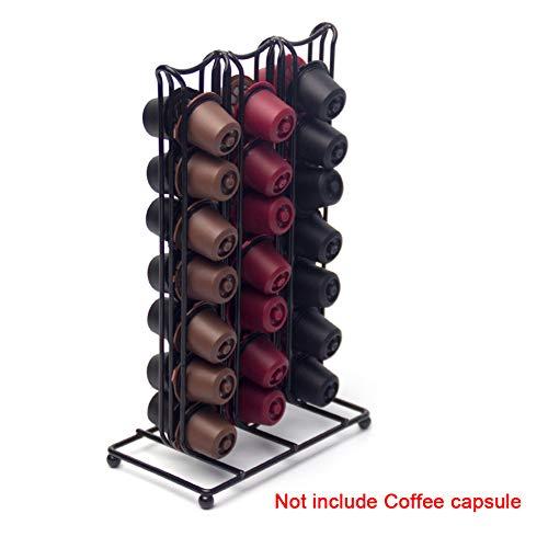Bclaer72 Für Nespresso Kapselhalter, für Nespresso Kaffeekapsel-Drehständer, 360 Grad drehbar,...