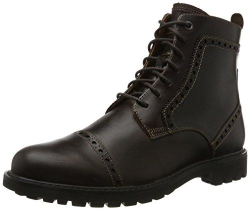 Clarks Herren Montacute Cap Klassische Stiefel, Braun (Dark Brown Lea), 46 EU (11 UK) (Clarks Stiefel Mens Casual)