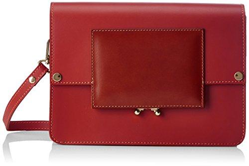Chicca Borse 1637, Borsa a Spalla Donna, 26x18x9 cm (W x H x L) Rosso