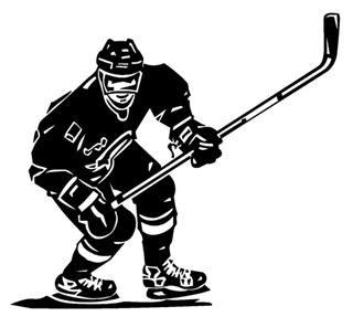 SUPERSTICKI® Eishockey 15 cm Aufkleber Autoaufkleber Sticker Tuning Vinyl UV& Waschanlagenfest Tuningsticker