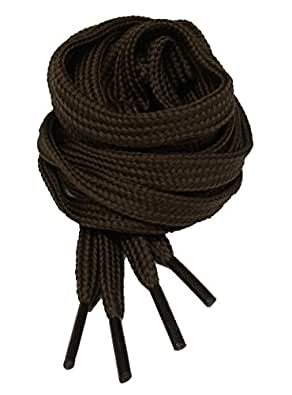 Big Laces Flat Brown Shoelaces 7mm X 45cm [Apparel]