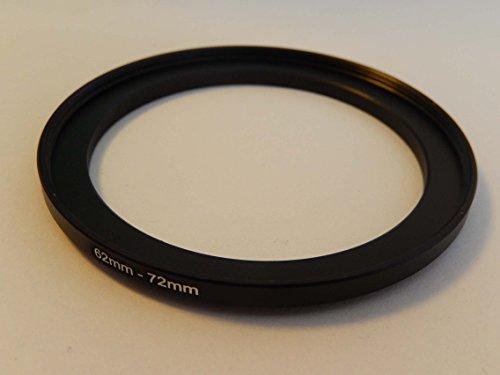vhbw Step UP Filter-Adapter 62mm-72mm schwarz für Kamera Panasonic, Pentax, Ricoh, Samsung, Sigma, Sony, Tamron 62mm Adapter