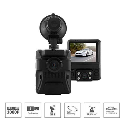 Four Dash Camdouble Lente HD GPS visión Nocturna Oculta visión Nocturna, 170...