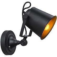 Coquimbo Rustico Regolabile Singolo Industrial Light Riparo Della Parete Della Lampada Del Dispositivo Home Decor Senza Lampadina (Black)