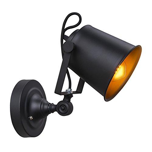 Coquimbo Industrielle Vintage Wandleuchte mit Einstellbar Kopf, Rustikale Metall Wandlampe Licht Wandleuchte Leuchte für Haus, Bar, Restaurants, Kaffee Decorat (Ohne Lampe) (Rustikale Kerze Wandlampen)