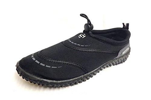 Typhoon Swarm Wassersportschuh / Aqua-Schuh / Wasserschuh, in Erwachsengrößen 37–46, Herren, Wasserschuhe, schwarz / grau, UK Adult 11