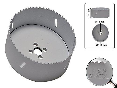 HSS BI-Metall Bohrkrone 114 mm ohne Vorbohrer