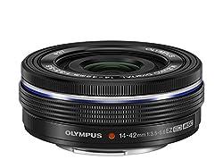 Olympus M.Zuiko Digital 14-42mm F3.5-5.6 EZ Objektiv (Standardzoom, geeignet für alle MFT-Kameras, Olympus OM-D und PEN Modelle, Panasonic G-Serie) schwarz