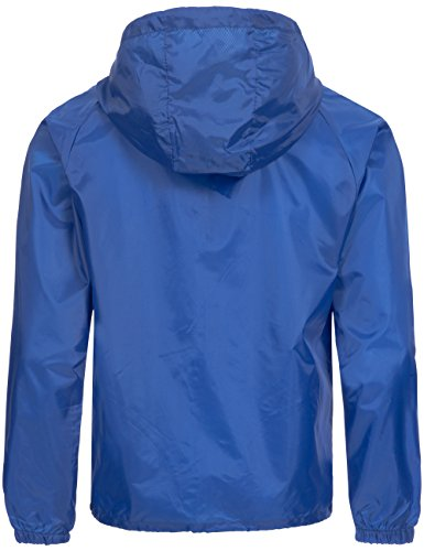 Übergangs Jacke   Regenjacke   Windbreaker für Herren Baxter von Geographical Norway - modische Funktions-Jacke mit Kapuze Blau