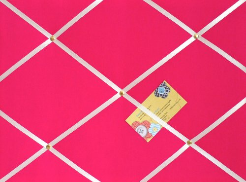 M rosa Hand aus Stoff-Pinnwand/Memo-Brett mit weißem Band (White Ribbon Board)