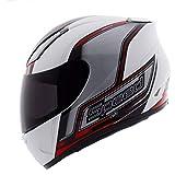 Sportschutzausrüstung- Helm Electric Motorradhelm Laufhelm Racing Helm Fullface Helm (Farbe : Red, größe : XXL)