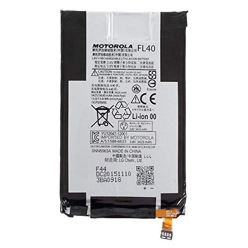 Original Akku Motorola Modell FL40 mit 3630 mAh für Motorola Moto X Play - Abdeckung Moto Batterie Ersatz X