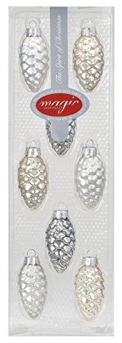 Inge-glas 15181K018–mO téton a winters's tail-mix, 5.5 cm (lot de 8)-couleur : blanc opale mat/champagne/gris perle