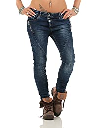 LEXXURY Damen Jeans Röhrenjeans Haremshose Damenjeans Baggy versch. Designs Cuts