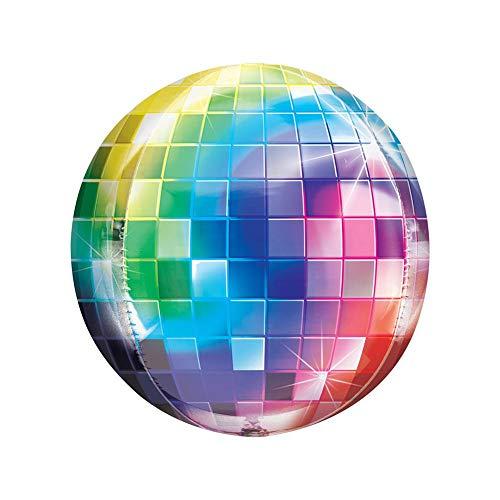 20 x 4D Rainbow Gradient Disco Ball Balloons.