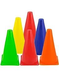 TOOGOO (R) 6pcs Colorful Plastic Slalom Pila Patinaje sobre ruedas Mini Conos Senales de trafico Marks