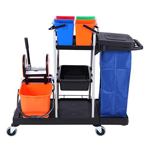 Paneltech 3 piani professionale carrello di pulizia per alberghi ristorante scuola mensa lavaggio a mano libera mop uso domestico fold spremere acqua tipo famiglia pigro mop ruotare il mop