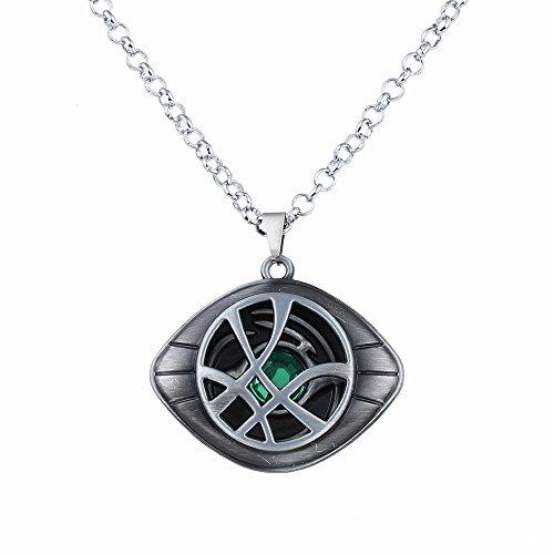 LUREME Doctor Strange Halskette Auge von Agamotto Kostüm Stütze Stein Anhänger-Antique Silber (nl005390-2)