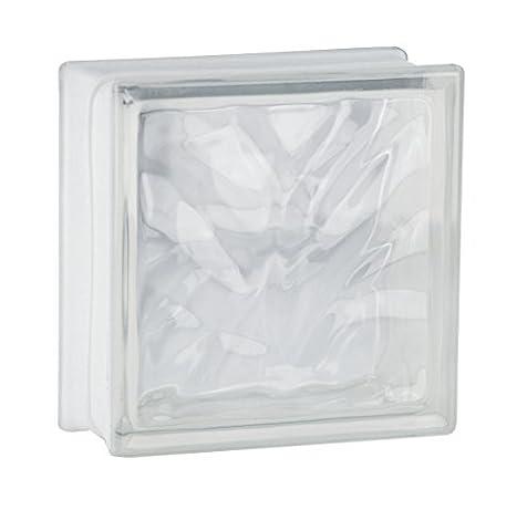 5 pieces Glass Blocks Glass Bricks Clear Wave 19x19x8cm
