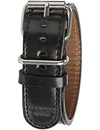 Bertucci b-199h Mens D-Type American piel de color negro 22mm patrimonio Horween Apex negro carcasa Cordovan reloj banda