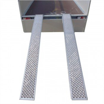 Alu-Auffahrrampen-Set Rutschfeste Oberfläche
