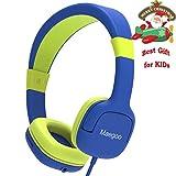 Maegoo Cuffie per Bambini, Cuffie Cablate con Microfono & Controllo del Volume 85dB Limitante, Over-Ear Cuffie Bambini Ragazzi Ragazze Auricolare per Telefono Cellulare PC Tablet (Blu)